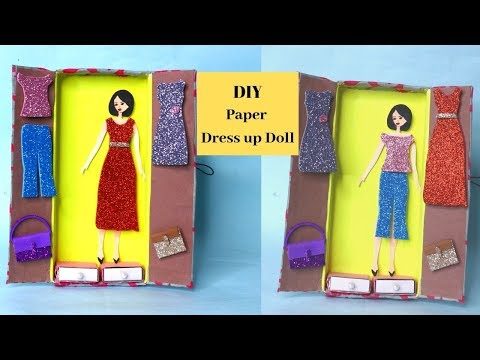DIY Dressup dolls tutorial !!! Paper Doll dress craft ideas By Aloha Crafts