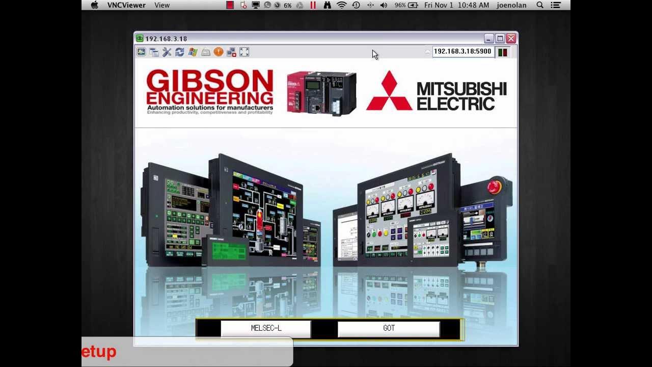 Mitsubishi HMI VNC Server Configuration by Joe Nolan