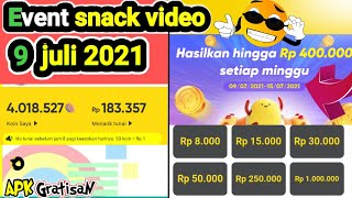 the latest snack video event 9 july 2021 - Snack Video 2021 event - money-making app screenshot 4