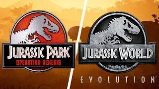 Jurassic Park: Operation Genesis Vs Jurassic World Evolution
