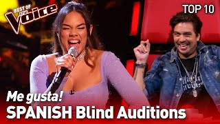 UNEXPECTED SPANISH Blind Auditions in The Voice | TOP 10