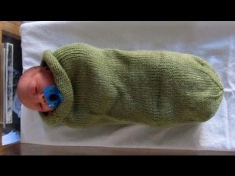 Capullo para bebe tejido en telar facil una frazada - Manta de crochet facil ...