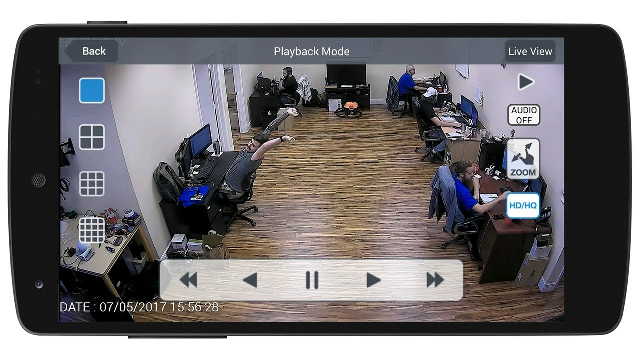 android mobile app hd security camera view - youtube