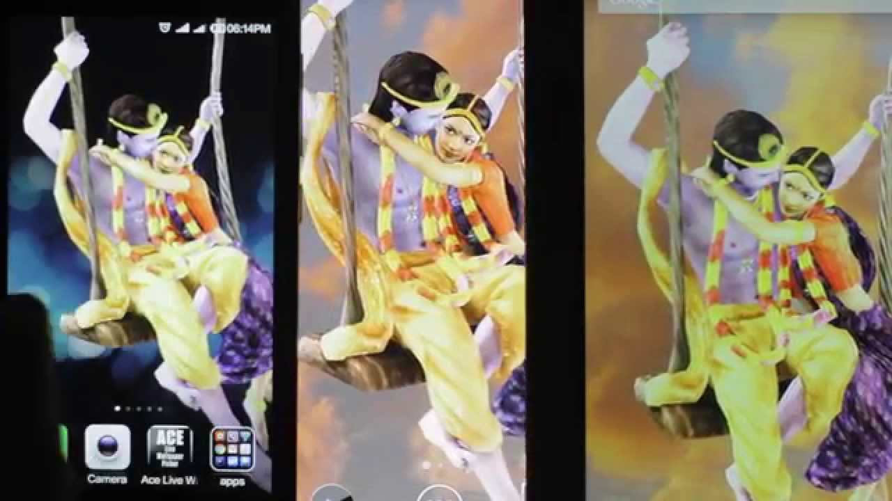 Radha Krishna : Free animated 3D Live Wallpaper for Mobiles