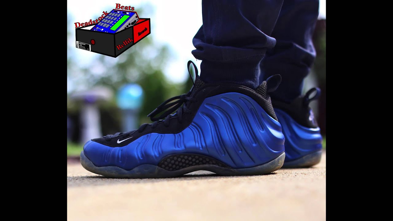 Nike Foamposite Royal On Feet