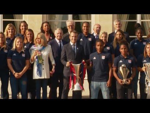 Lyon: L'Olympique Lyonnais Féminin à l'Elysée