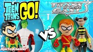 Teen Titans Go Toys & Teen Titans VS Teen Titans East SURPRISE TOYS Robin Cyborg Raven Teen Titans