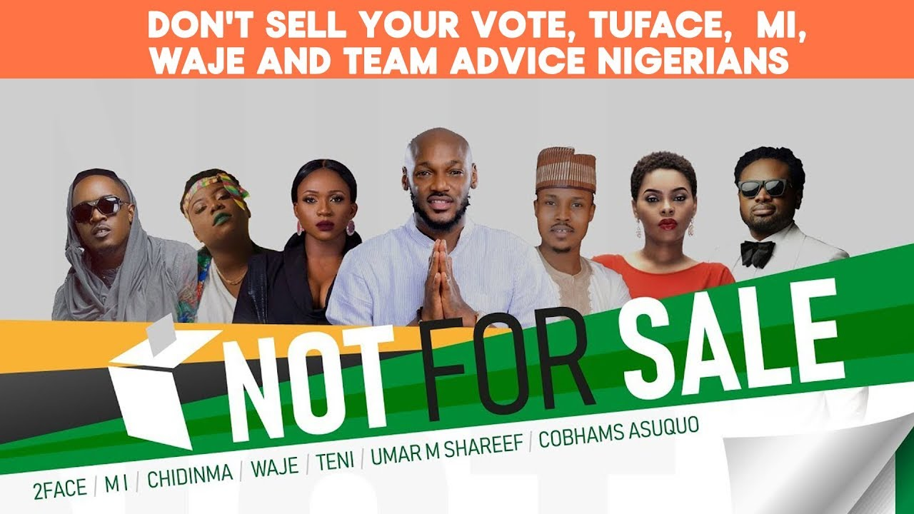 Download Make Nigeria Great Again with your Vote! says Tuface,Chidinma and MI Abaga