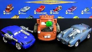 Cars 2 Spy Shifters Transformers Mater, Rod Torque Redline, Finn Mcmissile Disney toys Blucollection