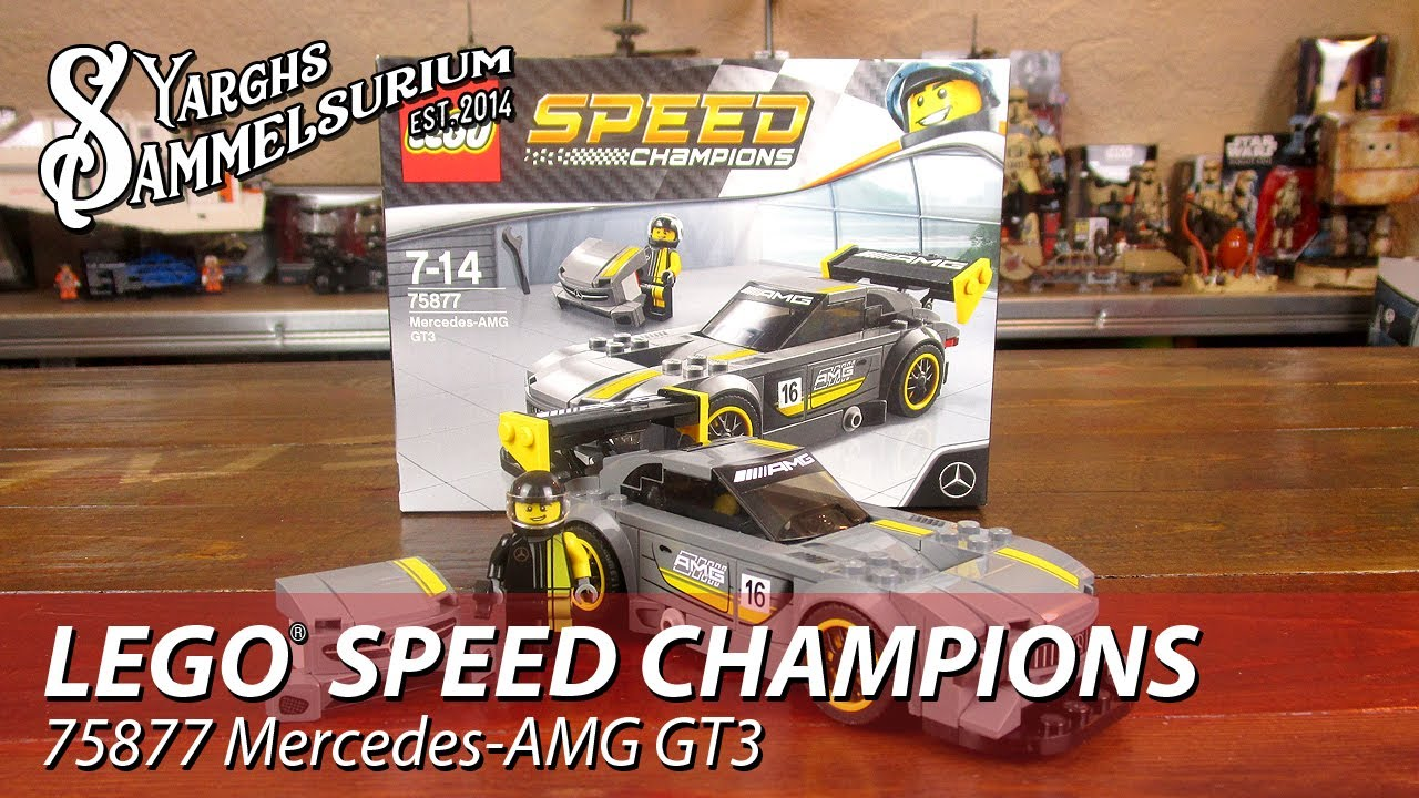 review lego speed champions 75877 mercedes amg gt3. Black Bedroom Furniture Sets. Home Design Ideas