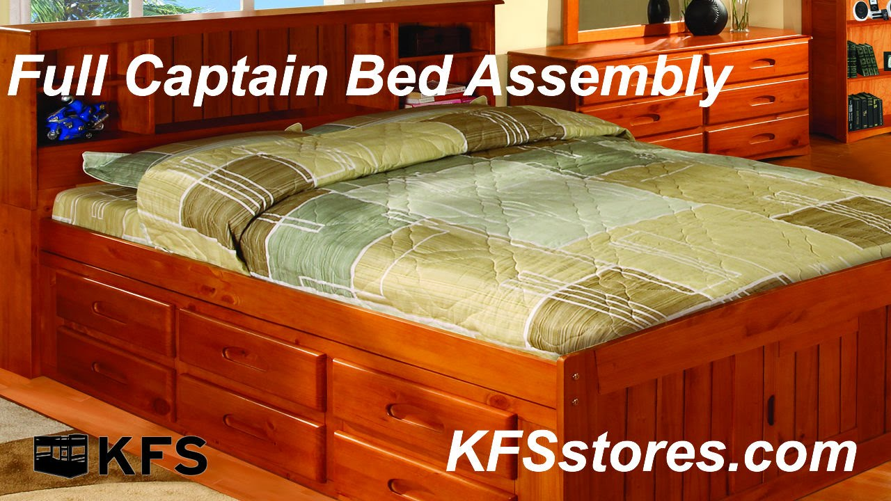 full captain bed assembly kfsstores com