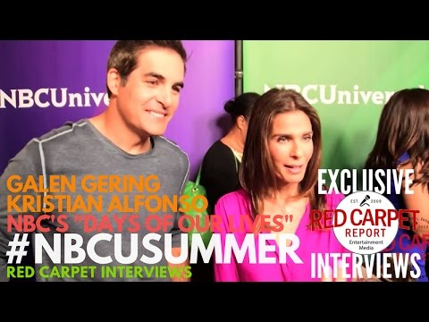 Galen Gering & Kristian Alfonso ed at NBCUniversal's Summer 2017 Press Day