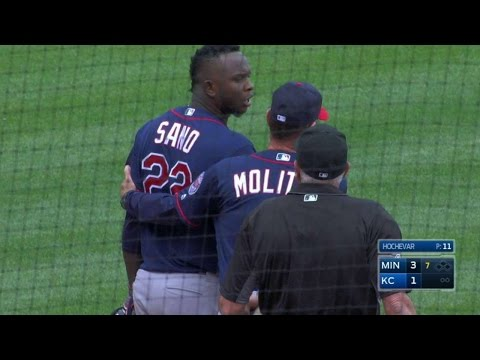 MIN@KC: Sano ejected for arguing balls and strikes