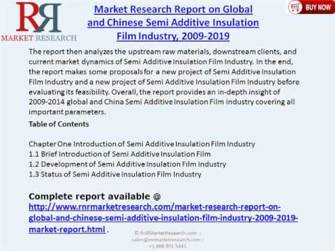 Global And Chinese Semi Additive Insulation Film Industry 2019