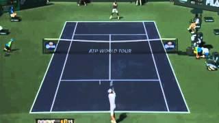 Novak Djokovic vs Jo Wilfried Tsonga - Match Point & Highlights ATP Indian Wells 2013 HD