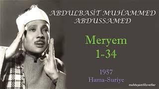 Abdulbasit Muhammed Abdussamed - Meryem (1-34) Hama Suriye 1957