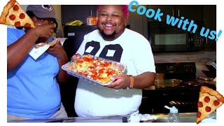MAKING A PEPPERONI PIZZA: COOK WITH ME!