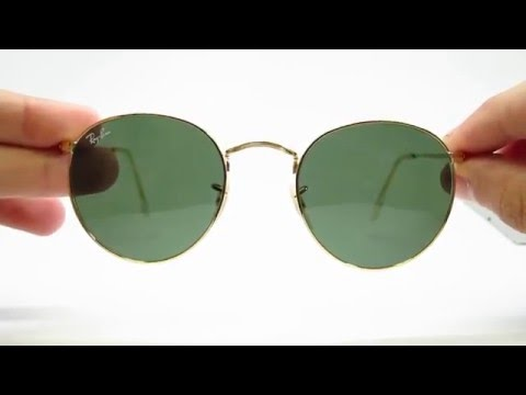 b711fc44b Unboxing Ray-Ban RB 3447 Round Metal Gold 001 Sunglasses - YouTube
