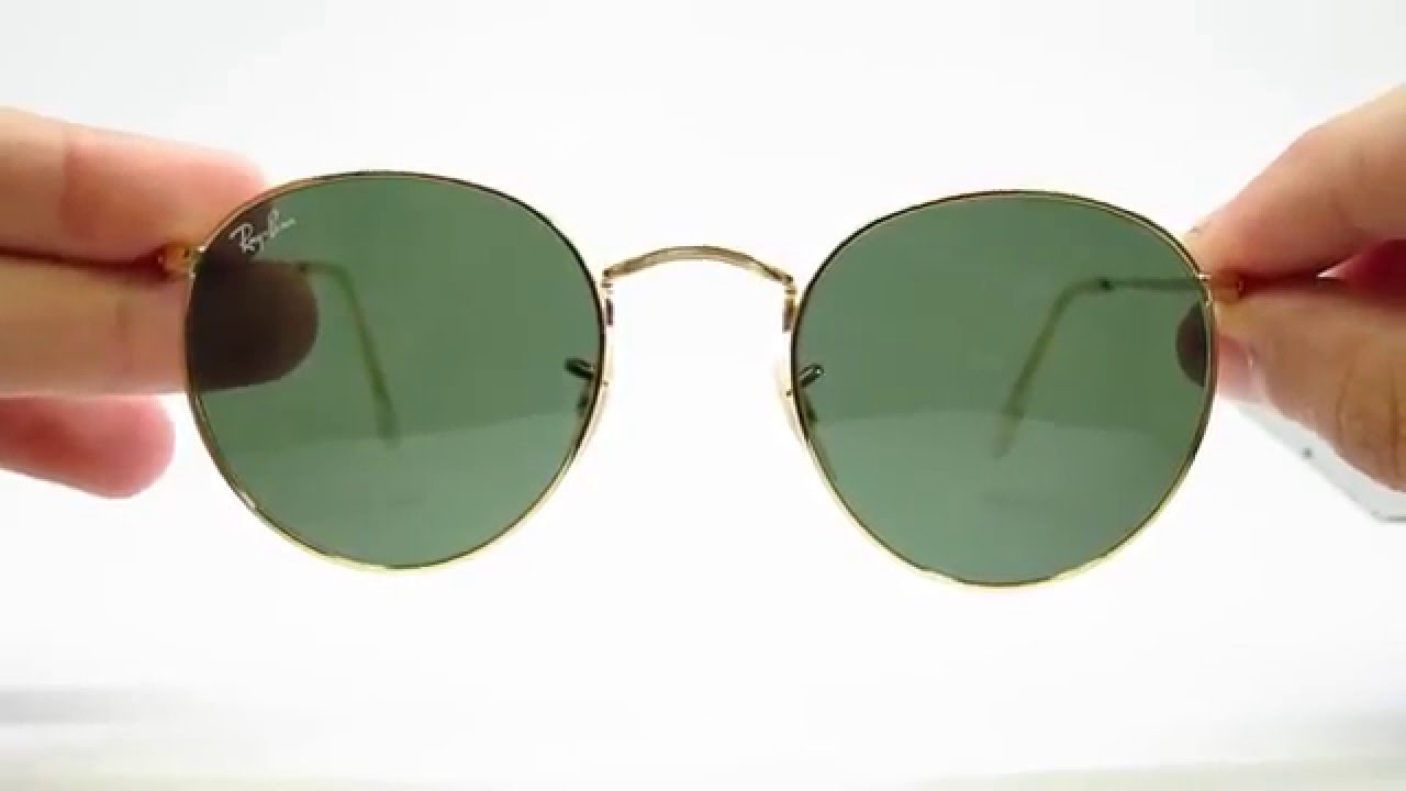 Unboxing Ray-Ban RB 3447 Round Metal Gold 001 Sunglasses - YouTube 569c111b7687