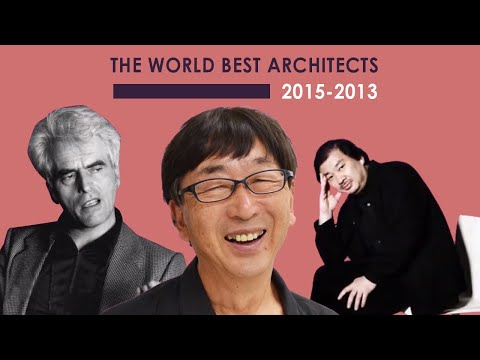 The World Best Architects- Pritzker winners 2015 to 2013