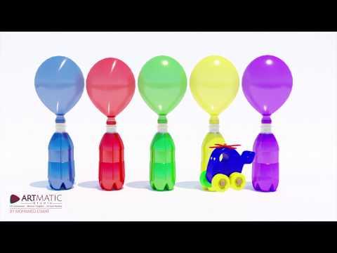Teach Kids Color Pronouncing In English  Balloons,Balls произнесение цветов на английском для детей
