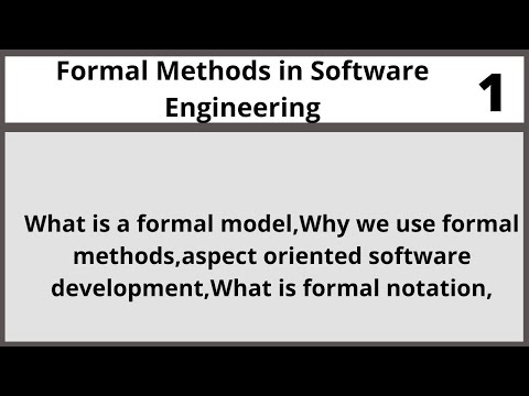Formal Methods In Software Engineering CSE304 LECTURE 01