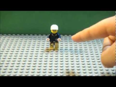LEGO Tutorial: How to make a Lego minifigure(dude) jump in a stop ...