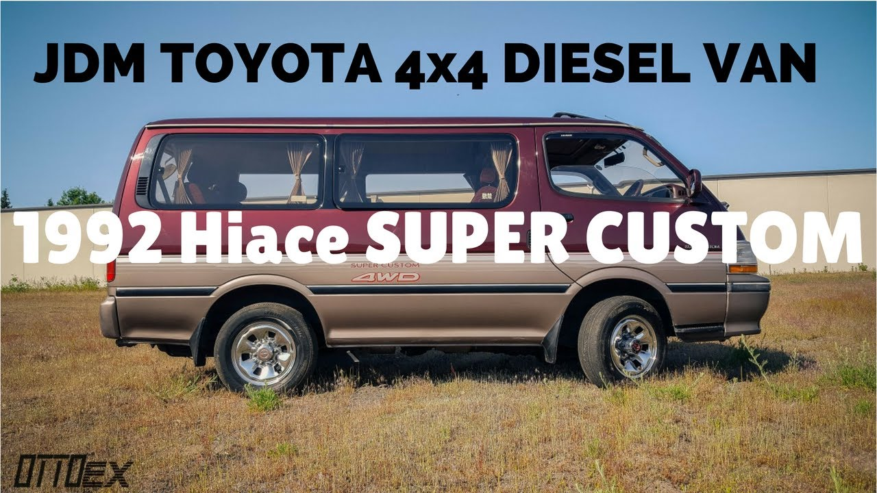 toyota hiace super custom 1991 года