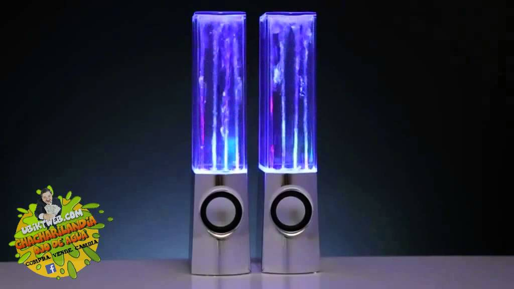demostracion altavoces con fuente de agua led audioritmica, Water ...