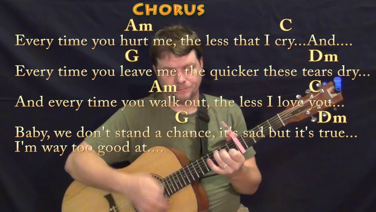 Too Good At Goodbyes Sam Smith Guitar Chord Chart With Chords