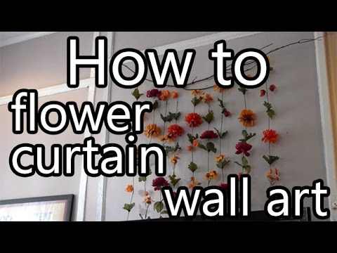 How To Make Flower Curtain Wall Decor Diy Youtube