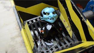 crushing Halloween Toys - Shredding Halloween Gadgets - Slime kids toys  - Shredder experiment