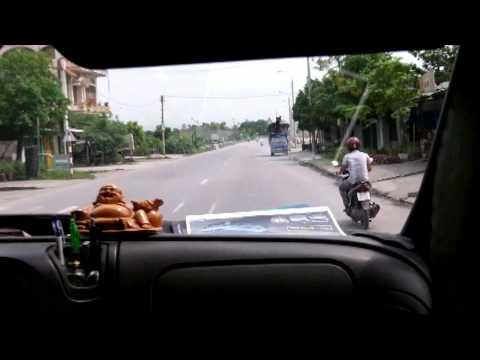 Bus ride from Hanoi to Ha Long Bay