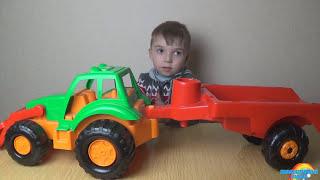 Обзор машин Спецтехники. Трактор, бульдозер. Развивающие мультики.