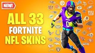 ALL 33 Fortnite NFL Team Skins