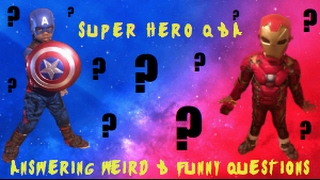 Captain America & Iron Man Questions and Answers: Ask kids questions -they say the funniest thin