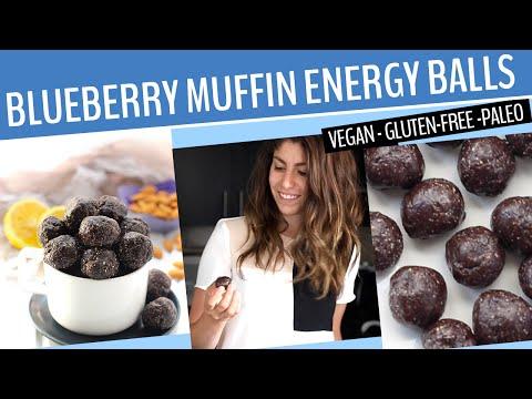 BLUEBERRY ENERGY BALLS RECIPES   A healthy + vegan snack recipe