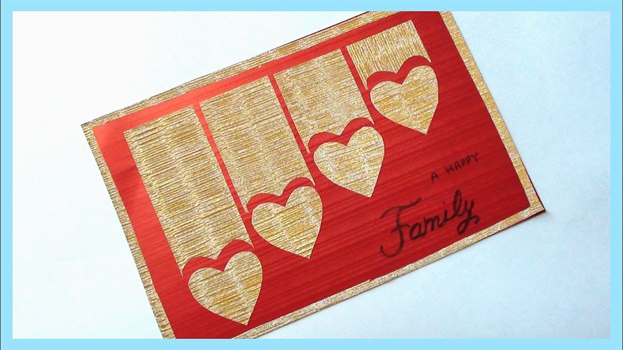 Diy Greeting Card Making At Home Tutorial Youtube
