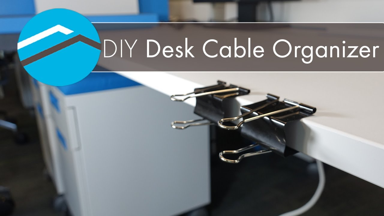 Diy Desk Cable Organizer Waypoint Homes
