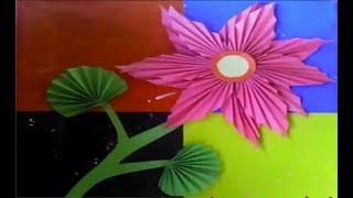 Cara Membuat Kolase Bunga Dari Kertas Origami