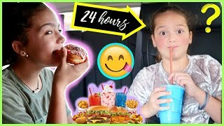 EATING FAST FOOD FOR 24 HOURS | SISTER FOREVER