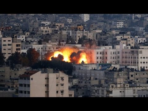 F-16 Fighters Drop Bombs On Gaza
