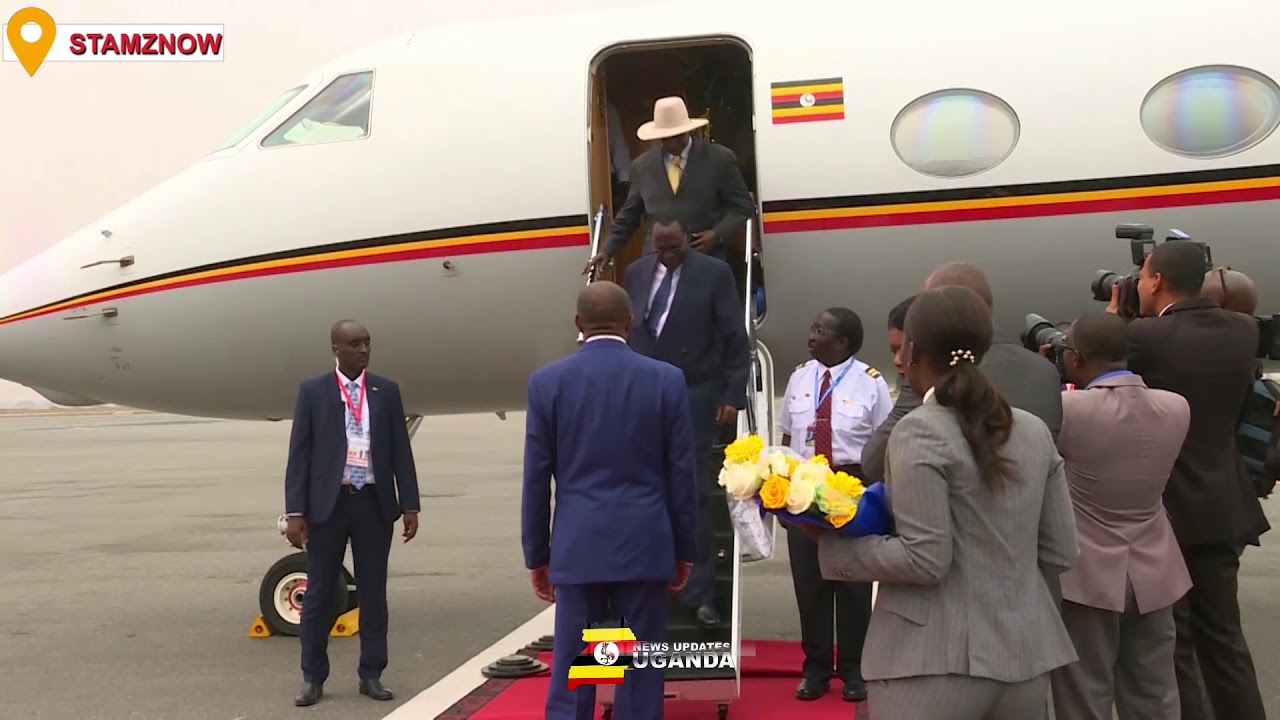 MUSEVENI ARRIVES IN STYLE AHEAD OF TALKS WITH RWANDA'S KAGAME IN ANGOLA
