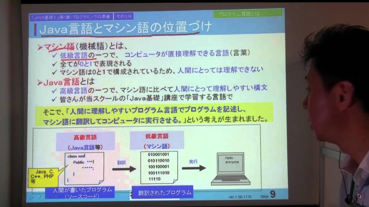 Java基礎Ⅰ 第1章その1 プログラミングの準備 - YouTube