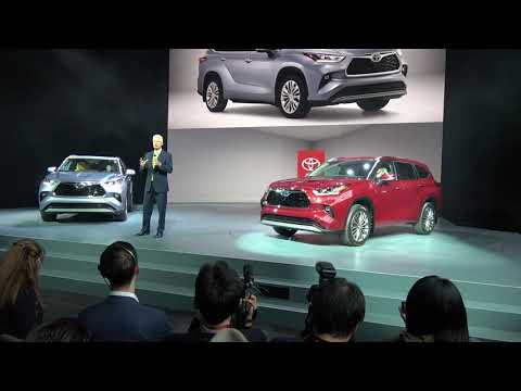 2020 Toyota Highlander World Premiere / New York Auto show