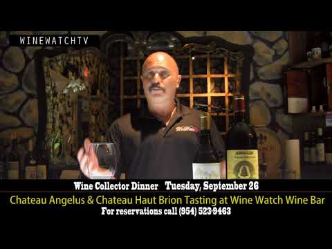 Collectors Dinner  Chateau Angelus & Chateau Haut Brion Tasting at Wine Watch Wine Bar - click image for video