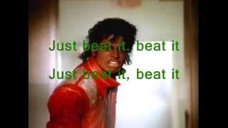 Michael Jackson - Beat It , with lyrics (Sing-Along)