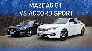REVIEW: 2016 MAZDA 6 GT VS 2016 ACCORD SPORT! .. PART 1
