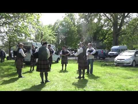 Gillygooly Pipe Band Warming Up @ Ards & North Down Pipe Band Championships 2016 (2)