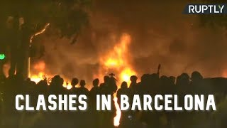 Tensions fly high in Barcelona as activists protest in support of jailed Catalan leaders